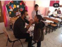 Gercüş'te öğrenciler ağız ve diş sağlığı eğitimi