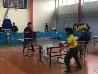 Sason'da okullar arası masa tenisi turnuvası
