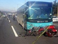 Ümraniye TEM Otoyolu'nda iki kişinin öldüğü feci kaza kamerada
