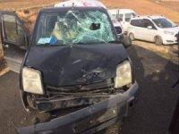 Gercüş'te motosiklet ile araç çarpıştı: 1 yaralı
