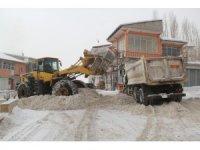 Başkale Belediyesinden karla mücadele çalışması