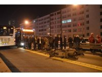 Metrobüs yolunda akıl almaz kaza, metrobüs motosiklete çarptı