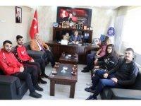 Ağrı'da başarılı sporcular Gençlik ve Spor İl Müdürünü ziyaret etti