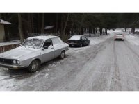 Kazdağların'da kar yağışı başladı