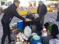 Şehitler ruhuna pazar esnafına çorba ikramı