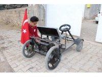 14 Yaşında kendi elektrikli aracını yaptı