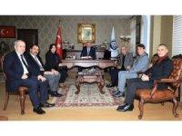 Erzincan Kent Konseyi Danışma Meclisinden Rektör Levent'e ziyaret