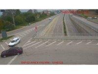 Sinop'taki trafik kazaları kamerada