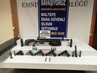 Maltepe'de polisin durdurduğu şahsın evinden ve işyerinden cephanelik çıktı