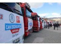 Erzincan'dan İdlib'e 20 tır yardım malzemesi gönderildi