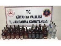 Kütahya'da 36 litre kaçak içki ele geçirildi
