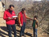 Sosyal hizmetler merkezi ekibi deprem bölgesini inceledi