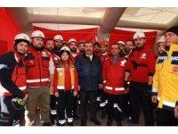 Bakan Koca, Elazığ'daki Kırklareli UMKE ekibinin çalışmalarını inceledi