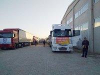 Çorum Belediyesi'nin yardım konvoyu Elazığ'a ulaştı