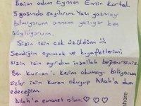 Kartallı çocuklardan Elazığlı depremzedelere duygu yüklü mektuplar