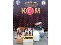 Gaziantep'te kaçak sigara ve sahte içki operasyonu