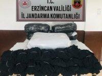 Erzincan'da 12 bin çift gümrük kaçağı kadın çorabı ele geçirildi