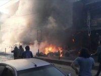 Afrin'de bombalı terör eylemi sivilleri hedef aldı: 8 ölü, 7 yaralı