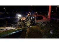 Çevre yolunda ters yönden giden araç kazaya neden oldu: 1 ölü, 2 yaralı