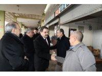 Başkan Canpolat hal pazarı esnafı ile bir araya geldi