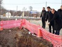 Başkan Gürkan doğu kanalizasyon hattı çalışmasını inceledi
