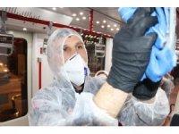 Tramvaylar virüslere karşı her gün dezenfekte ediliyor