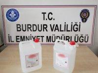 Burdur'da 7 litre etil alkol ele geçirildi