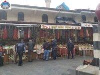 Büyükşehir Zabıta'dan Elmacı Pazarı ve Bakırcılar Çarşısı'nda hijyen denetimi