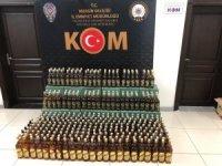 Mersin'de 617 şişe sahte içki ele geçirildi
