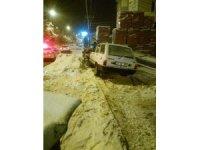 Kastamonu'da yoldan çıkan araç depoya çarptı: 1 yaralı