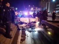 Alkollü sürücü devriye gezen polis otosuna çarptı, polisler ölümden döndü