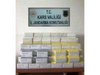 Kars'ta kaçak sigara ele geçirildi