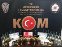 Ordu'da 29 şişe sahte alkol ele geçirildi