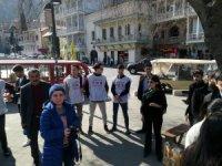 Gürcistan'da Hocalı katliamının 28. yıldönümünde eylem düzenlendi