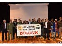 DÜ'de sivil havacılık öğrencilerine jandarma havacılığı tanıtıldı