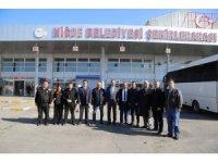Niğde Belediye Başkanı Emrah Özdemir Terminalde incelemelerde bulundu