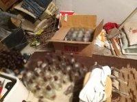 Adana'da 250 şişe kaçak içki ele geçirildi