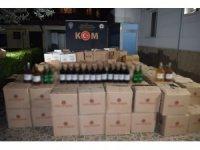 Osmaniye'de kaçak içki operasyonu