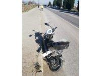 Kamyonetin çarptığı elektrikli bisiklet sürücüsü hayatını kaybetti