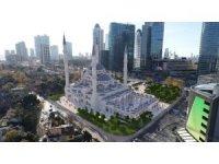 İnşaatına başlanan Levent Camii havadan görüntülendi