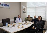 Trabzon İl Jandarma Komutanı Tuğgeneral Demir'den Özel İmperial Hastanesi yönetimine ziyaret