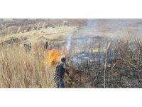 Tut'ta otluk alanda yangın çıktı