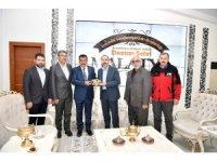 Başkan Gürkan'a geçmiş olsun ziyaretleri