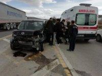 Bilecik'te yaşana trafik kazasında 1 kişi yaralandı