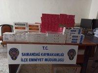 Samandağ'da 660 paket kaçak sigara ele geçirildi