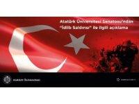 Atatürk Üniversitesi Senatosundan İdlib açıklaması;