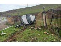 Siirt'te otomobil devrildi: 1 yaralı