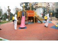 Haliliye'de ekiplerin dezenfekte çalışmaları devam ediyor