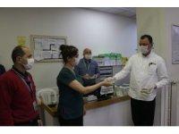 Kahramanmaraş'ta sağlık çalışanları jest