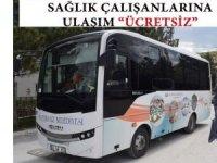 İscehisar Belediyesi sağlık çalışanlarına ücretsiz toplu ulaşım imkanı sağladı